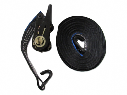 25MM Black Ratchet Strap 10M with J Hook - 0.8 Ton Tie Down Trailer Cargo Truck
